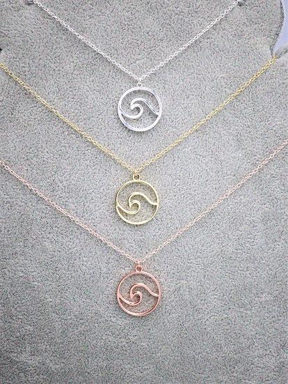Single Wave Necklace
