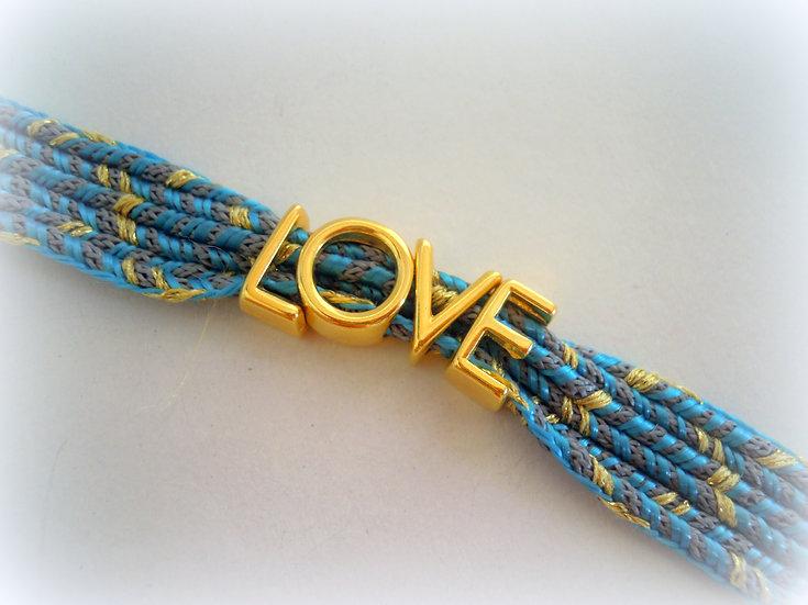 L.O.V.E.Ribbon Bracelet