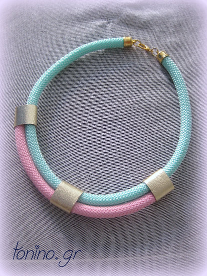 Mint-Baby Pink x2 Statement Necklace