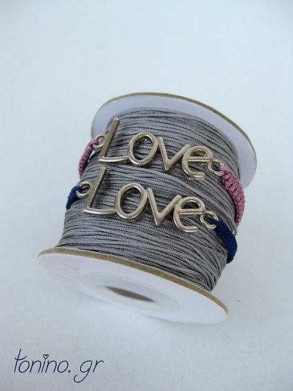'Love' Macrame Bracelet