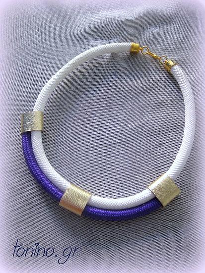 White-Purple x2 Statement Necklace