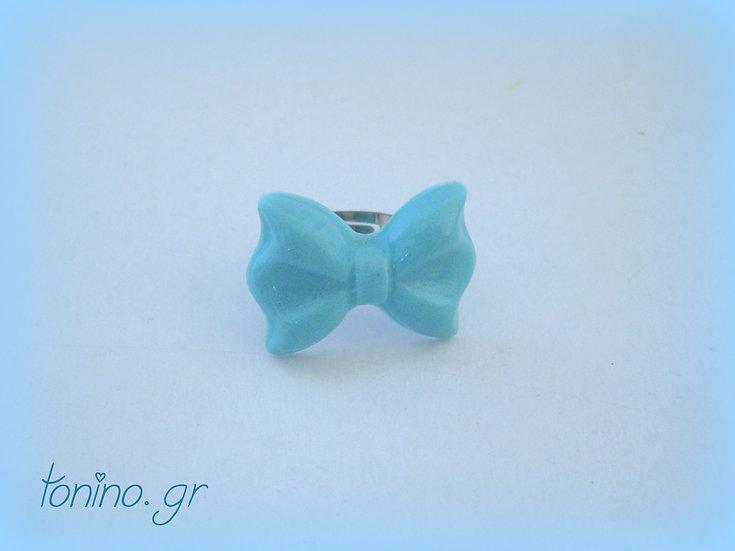 Bow Resin Ring - Mini Light Blue