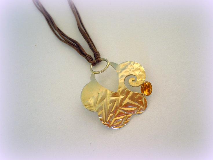 Gold Leaf Pendant