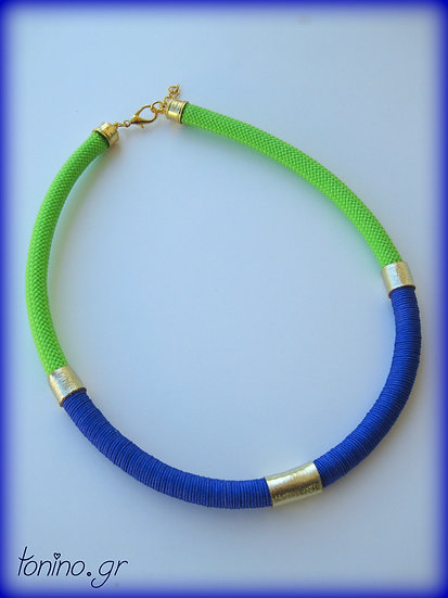 Green-Blue x1 Statement Necklace