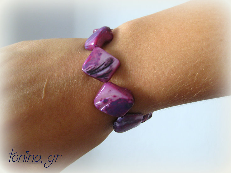 Purple Shell Elastic Bracelet