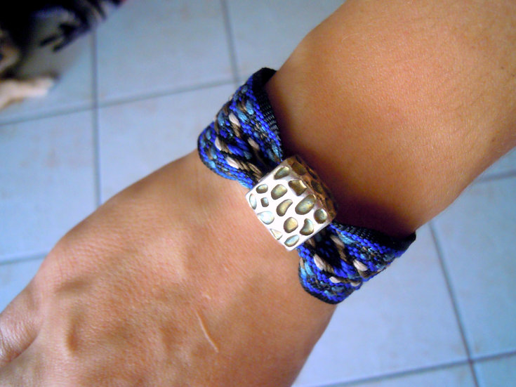Blue Cheese Ribbon Bracelet