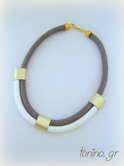 Beige-White x2 Statement Necklace