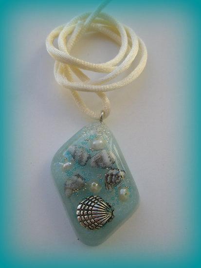 Sea Shells Resin Pendant