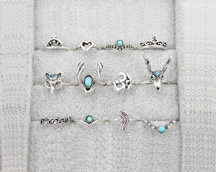 The Animal Spirit Ring Set