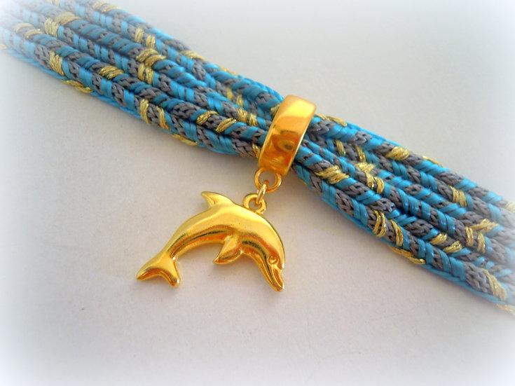 Dolphin Ribbon Bracelet