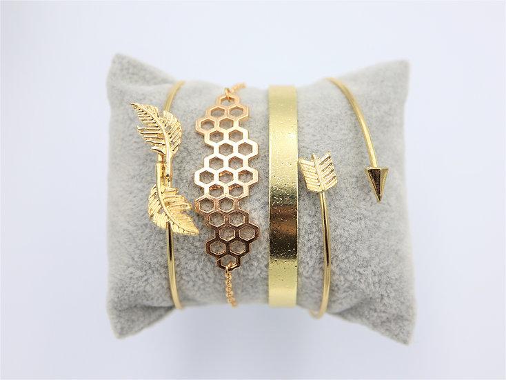 Ηoneycomb Bracelet Set