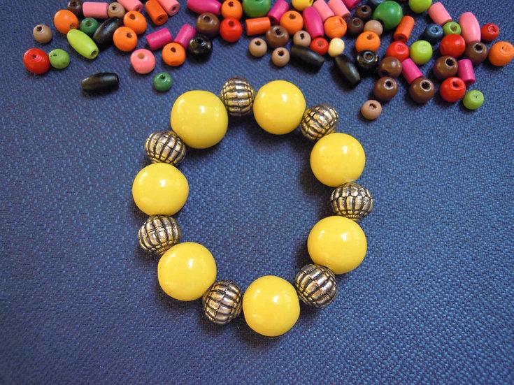 Yellow Elastic Bracelet