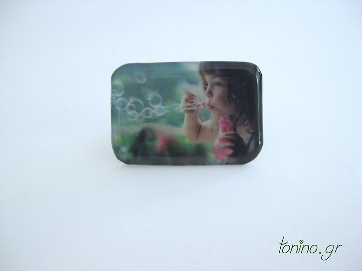 Bubble Girl Resin Ring
