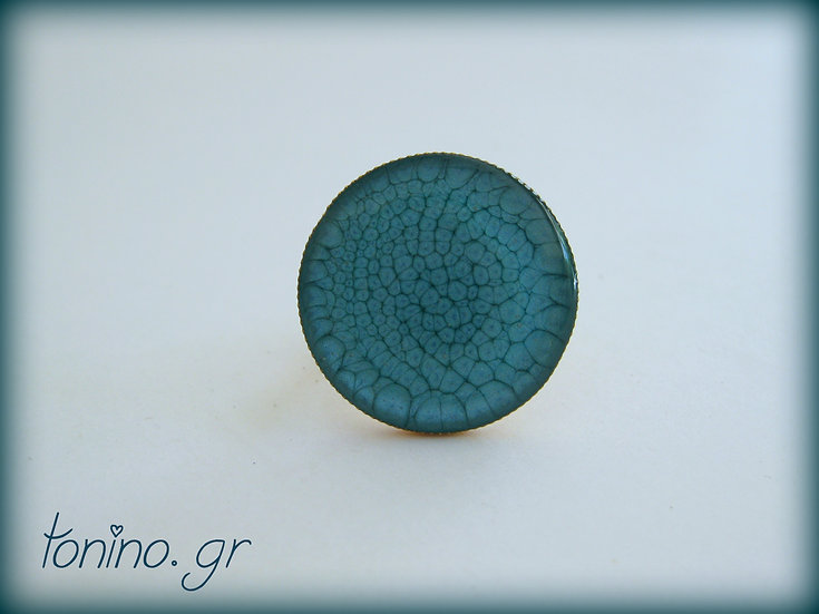 Moon Resin Ring - Turquoise