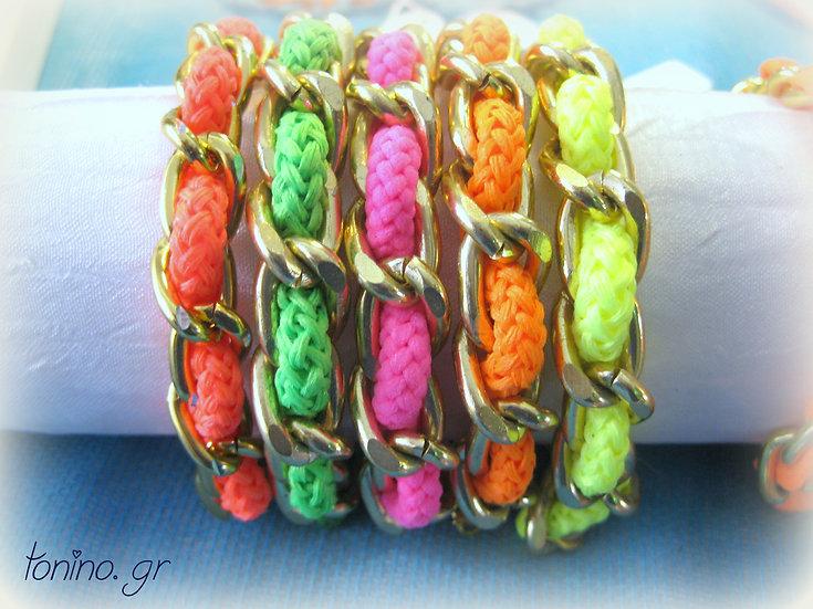 Gold Chain Cord Bracelet