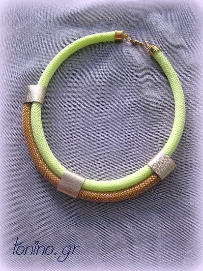 Lemon-Gold x2 Statement Necklace