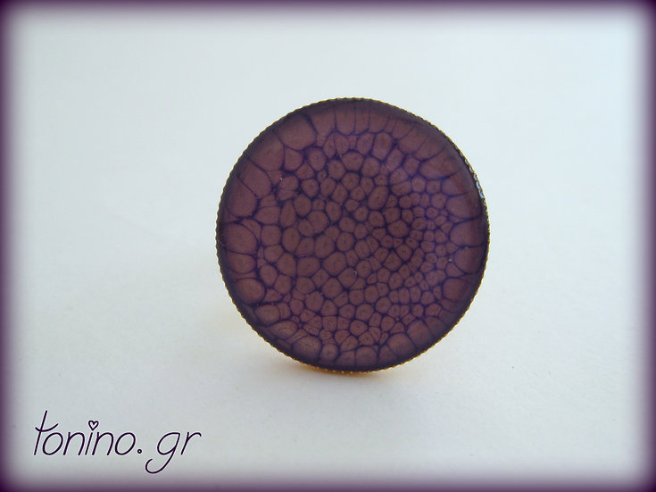 Moon Resin Ring - Purple