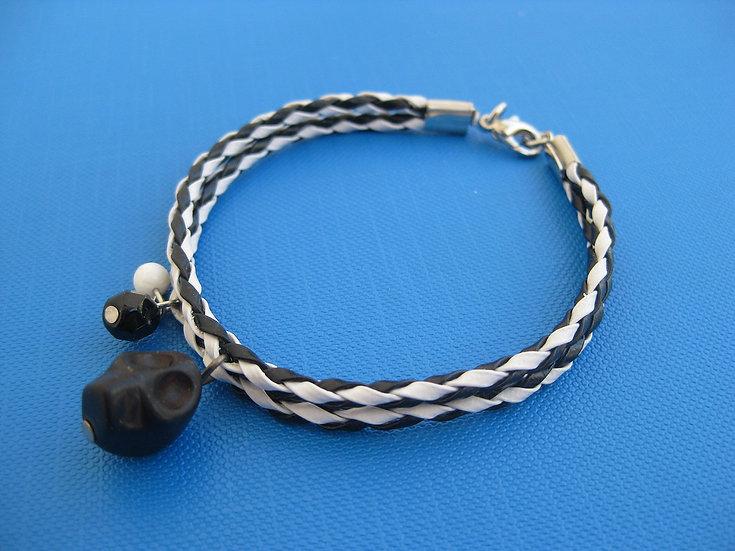 Black Howlite Skull Bracelet
