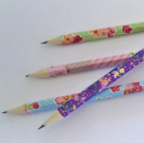 Σχολικά μολύβια από Washitape