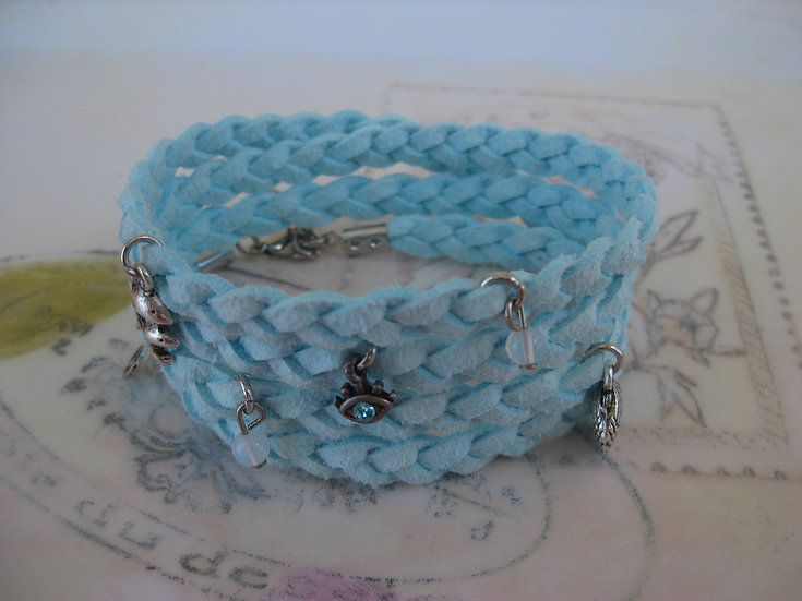 Braided Light Blue Bracelet