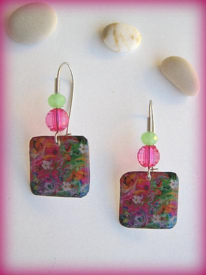 Flowers Resin Earrings