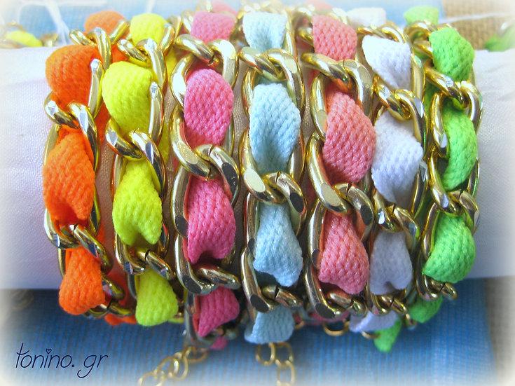Gold Chain Ribbon Bracelets