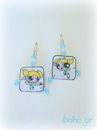 Power Puff Girls Resin Earrings