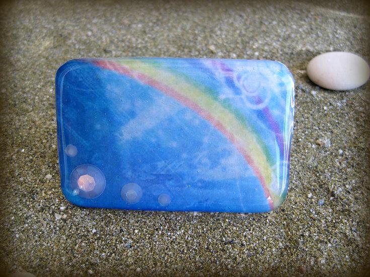 Rainbow Resin Ring