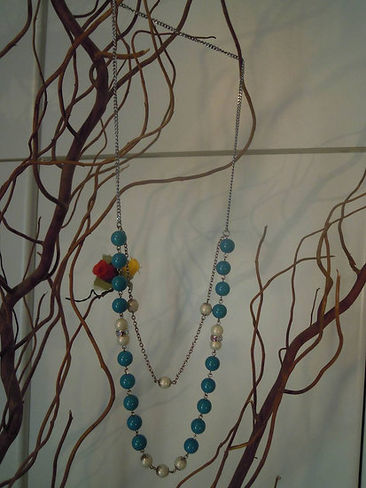 Double Row Pearled Necklace