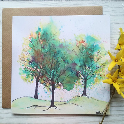 Woodland Colours Greeting Card