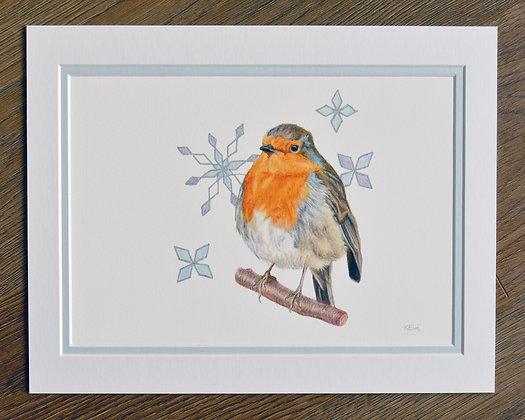 Yuletide Robin Limited Edition Print