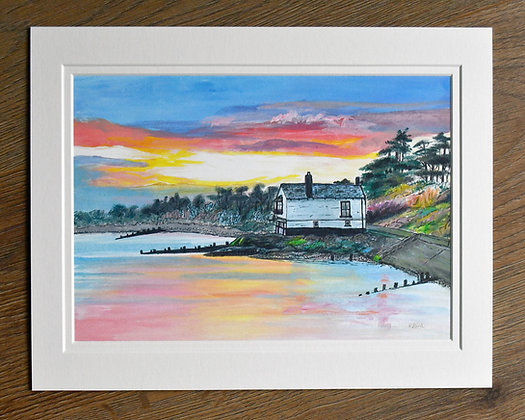Sunset at Lepe Limited Edition Print