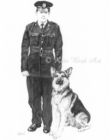 Police man and dog