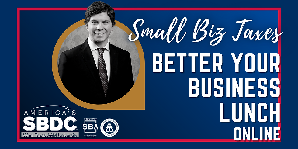Better Your Business Lunch Online - Small Biz Taxes