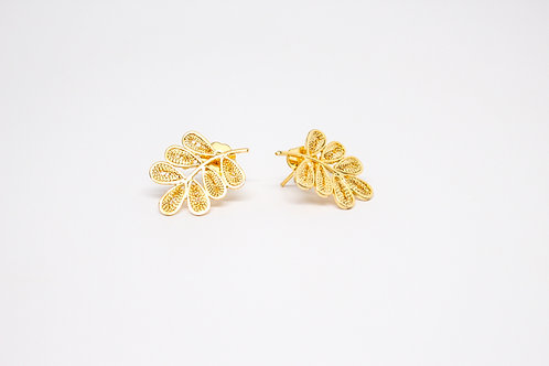 Leaves Filigree Studs
