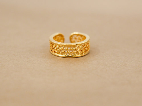 Maya filigree Adjustable Ring
