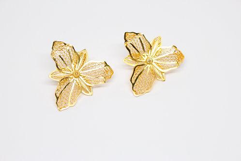 Orchid Filigree Stud Earrings