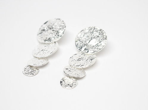 Disco Silver Earrings