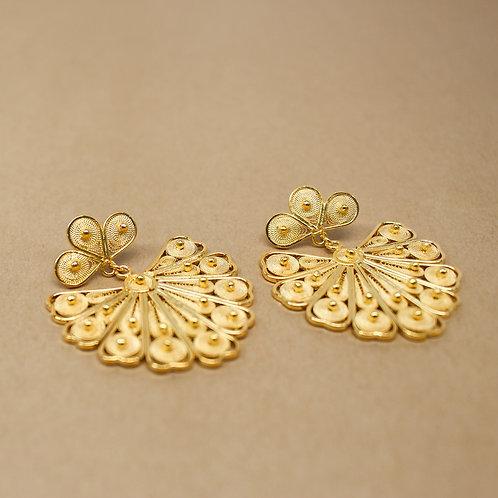 Claudia Filigree Fan Earrings