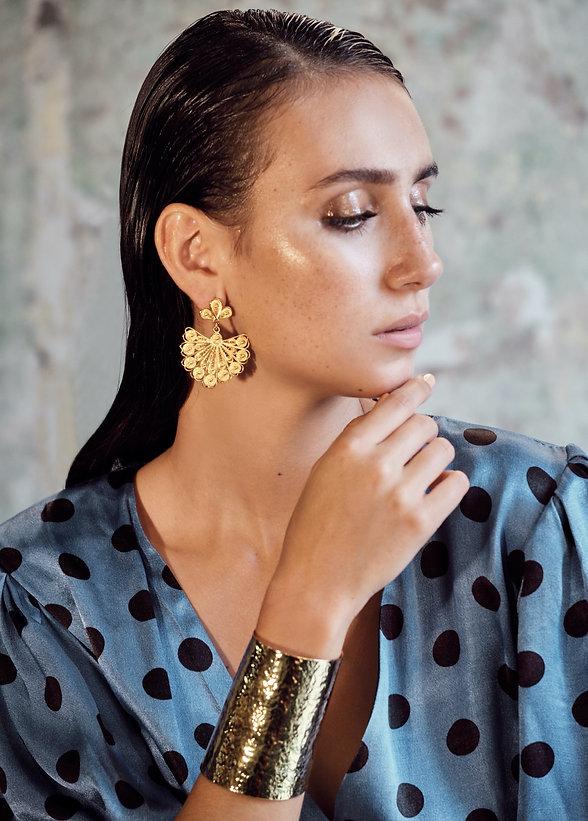 Claudia Fan Drop Earrings