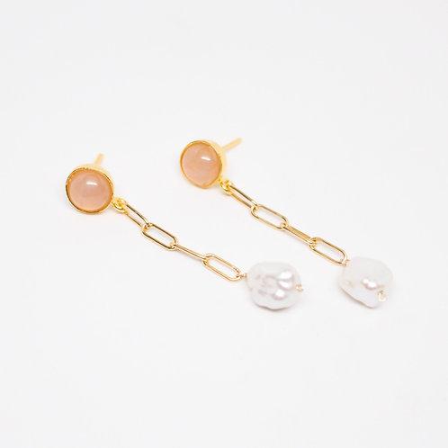 Augusta Pearl Link Earrings