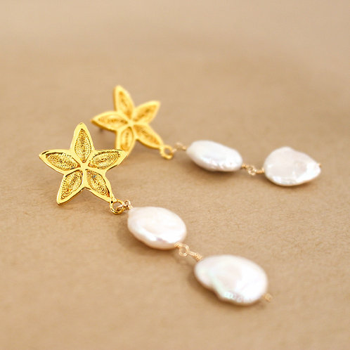 Stars and Pearls Earrings
