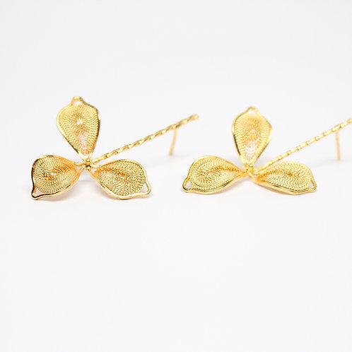 Orchid Filigree Drop Earrings