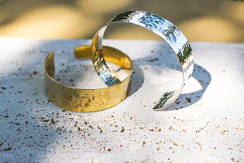 Sierra Hammered Asymmetrical Cuff Bracelet