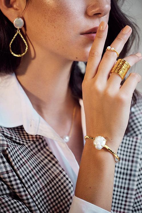 Baroque Pearl Gold Bracelet