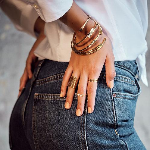 Dayana Thin Hammered Bracelet