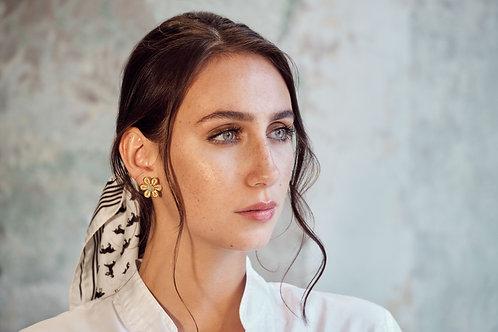 Daisy Emerald Filigree Earrings