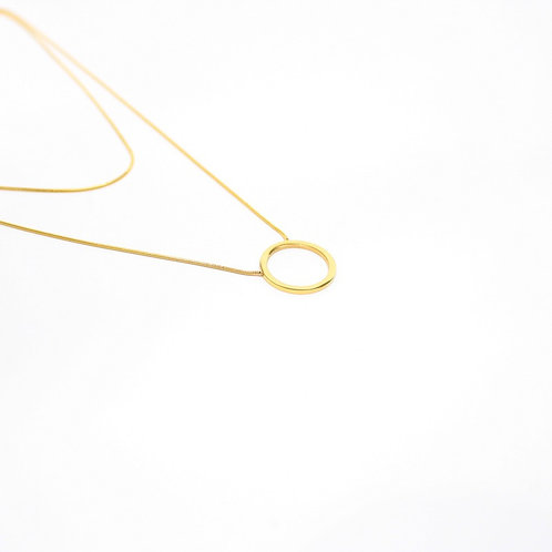 Circle Layered Necklace