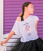 Covet Make Your Pointe Cactus Crop Tee (Adult & Youth)