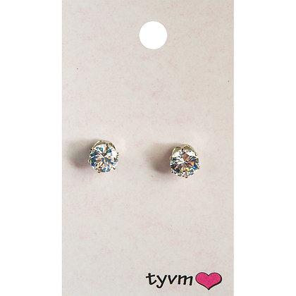 tyvm 9976570 CZ Sparkle Earrings 8 mm